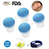 Anti Snoring Device Solutions Upgraded 2-in-1 Snoring Stopper Nasal Dilators Sleep Apnea Aids Cures Prevent Snoring Relief Nose Vents Include Chin Strap and Earplugs for Snoring for Men and Women