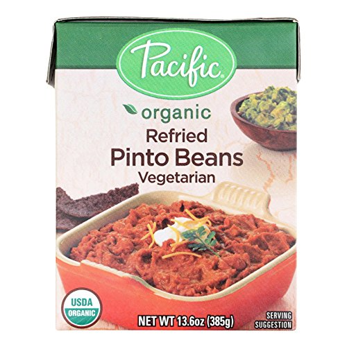 Pacific Natural Foods, Organic Refried Pinto Beans; Vegetarian, Pack of 12, Size - 13.6 OZ, Quantity - 1 Case by Pacific Natural Foods