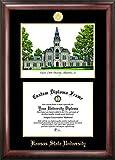 """Cuadro universitario """"Diploma grabado en relieve de la Universidad Estatal de Kansas"""" con litografía impresa, 8.5 """"x 11"""", dorado"""