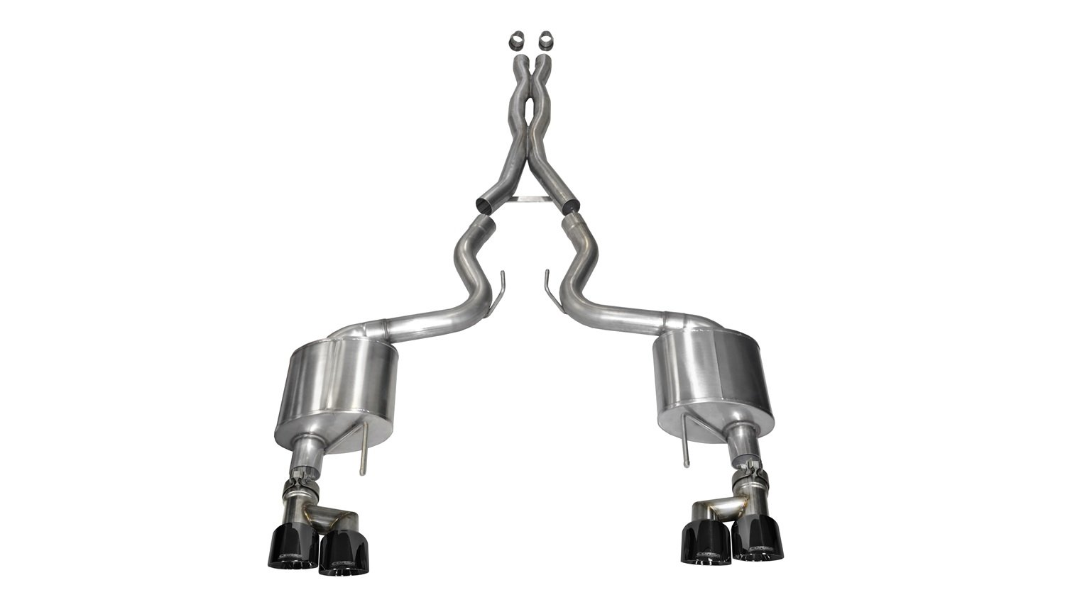 Corsa 14335BLK Cat Back Exhaust with Black Tip (Ford Mustang GT) Corsa Performance