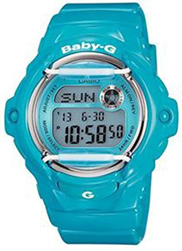 Casio #BG169R-2B Women's Glossy Blue Whale Chronograph Alarm Baby G Watch