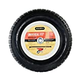 Marathon Universal Fit Air-Filled Wheelbarrow Tire on Wheel with Spacer/Bushing Kit Included