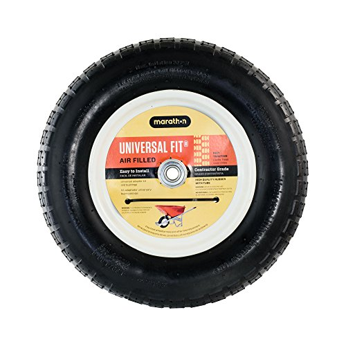 Marathon Industries 20265 Universal Fit Pneumatic (Air-Filled) Wheelbarrow Tire, 3