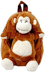 Tag Along Teddy Plush Monkey Backpack, Small