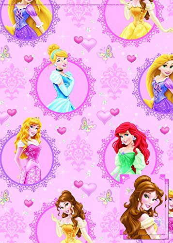 Disney Princess Gift Wrap Paper 2 Sheets & 2 Tag Pack (6623) by ToyLand