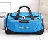Waterproof Sports Gym Bag With Shoes Pocket Men/Women Fitness Training Duffle Bag Travel Yoga Handbag Blue