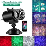 LEDshope Christmas Lights Projector 2-in-1 Ocean Wave Projector, 16 Slides Remote Control Indoor Outdoor Holiday Lights for Halloween Christmas Home Birthday Party Garden Landscape Decorations