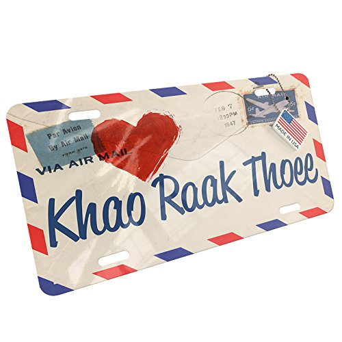 NEONBLOND Metal License Plate I Love You ThaI Love Letter from Tailand