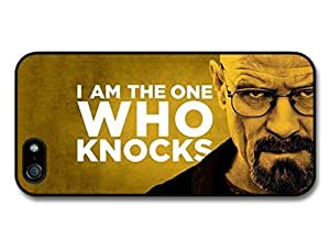 AMAF ? Accessories Breaking Bad Walter White I Am the One Who Knocks Quote Yellow Background case for iPhone 5 5S