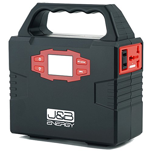 Portable station generator battery bank by J&B Energy, AC power 110/60Hz, USB DC Port, emergency,