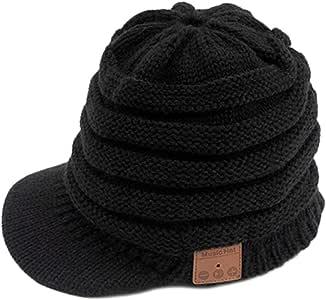 Joick Winter Knitted Peak Hat Bluetooth 5.0 Headphone Warm Cap Women Wireless Headset Music Hat