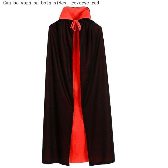 Halloween Manto Doble De Halloween, Traje De Manto Rojo Y Negro ...