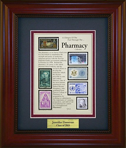 Pharmacy - Unique Framed Collectible (A Great Gift Idea) with Personalized Engraved Plate