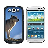 img - for Graphics and More Wolf Against Montana Sky Snap On Hard Protective Case for Samsung Galaxy S3 - Black book / textbook / text book