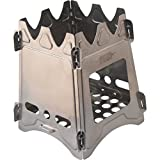 emergency wood stove - Survival Knight - Camping Wood Stove Collapsible Lightweight Hiking Fire Kit Backpacking Grill For Outdoor and Prepper Enthusiasts