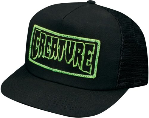 10e8b1e0791 Amazon.com  Creature Patch Trucker Hat Adjustable  Black   Sports ...