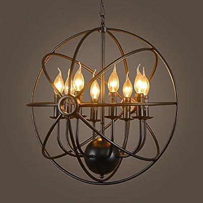 éclairage industriel moderne métal ombre loft pendentif lampe plafond rétro lampe lampe rétro ombre loft café-bar cuisine suspendus de lampes lustres vintage