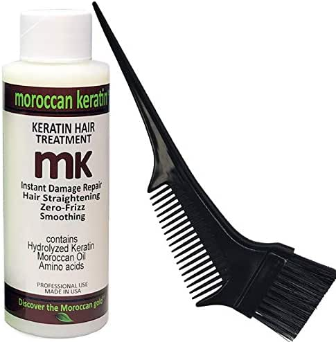 Moroccan Keratin Blowout for Brazilian Keratin Hair Treatment Proven Formula 120ml Keratin with Brush/Comb Best Value USA