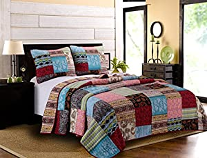 Greenland Home 3 Piece Bohemian Dream Quilt Set, King