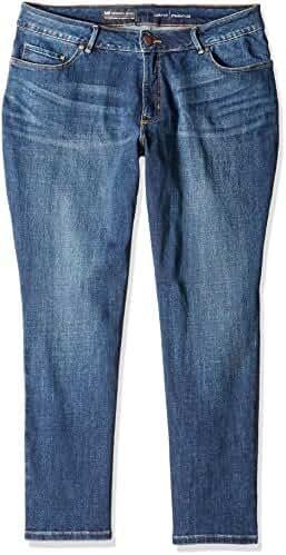 Lee Women's Plus Size Modern Series Curvy Straight Leg Jean with Hidden Pocket