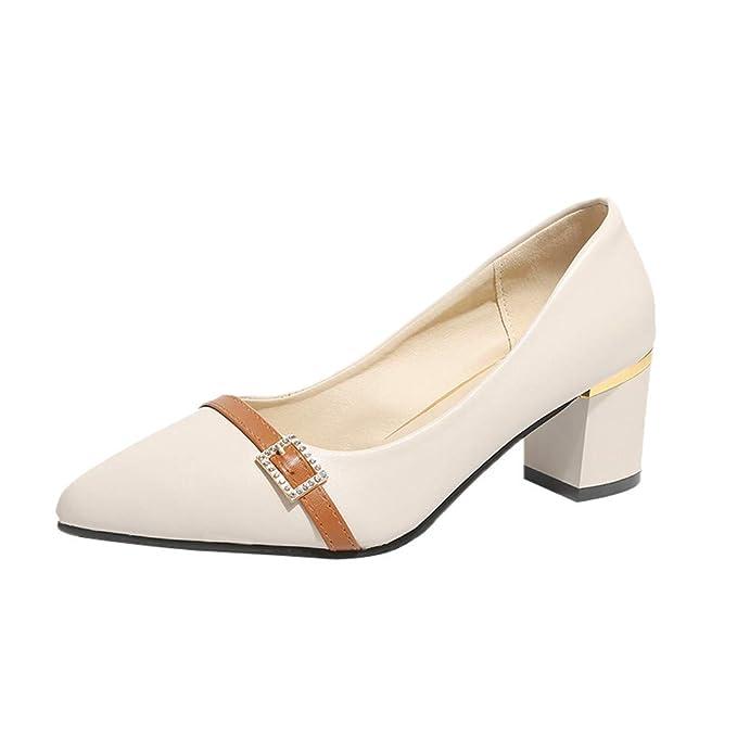 Darringls_Zapatos para Mujer,Sandalias Damas de Las Mujeres de Moda en Punta del Dedo del pie Cuadrado Mocasines Zapatos Casuales Zapatos Solos: Amazon.es: ...