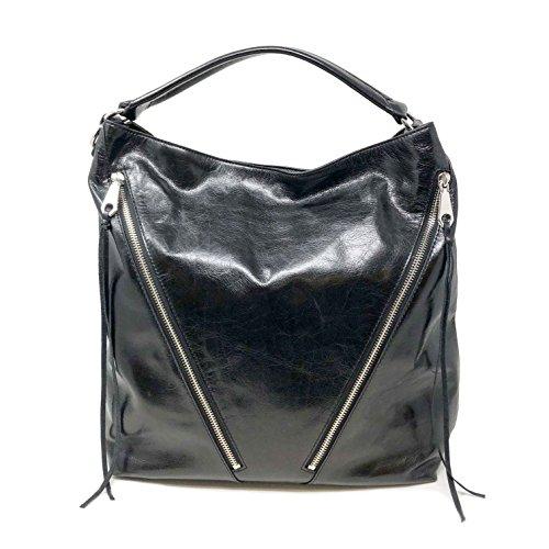 Rebecca Minkoff Women's Moto Hobo Bag, Black, One Size