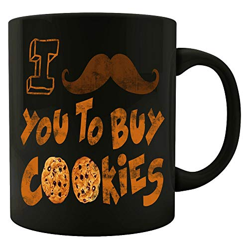 Funny Cookies - I Mustache You To Buy - Dessert Sugar Snack Treat Humor - Mug -