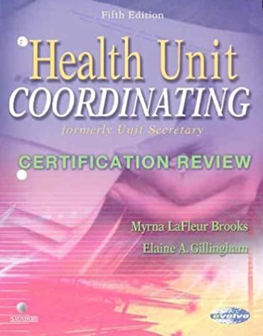 health unit coordinating certification review 5e 9780721601007 rh amazon com Health Unit Coordinator Duties Health Unit Coordinator Clip Art