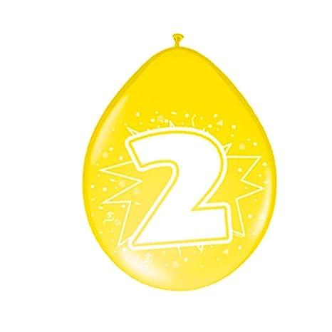 Amakando Esfera con número Cumple Globos cumpleaños 2 años ...