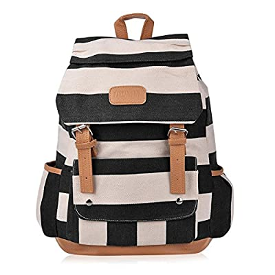 dfd1f1c38b5 cheap Vbiger Girls  Canvas Backpack in Navy Style Knapsack with Striped  Pattern