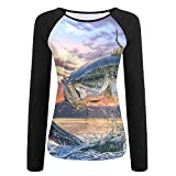 Tqx5ee Fish Art Girls UPF 50+ Sun Protection Long Sleeve Outdoor Performance T-Shirt Recreation Shirts for Girl