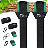 Trekassy 6000 lbs Tree Swing Hanging Straps Kit Two 10ft Double Layer Straps with Tree Protectors Carabiners Heavy duty for Swing Set and Hammock