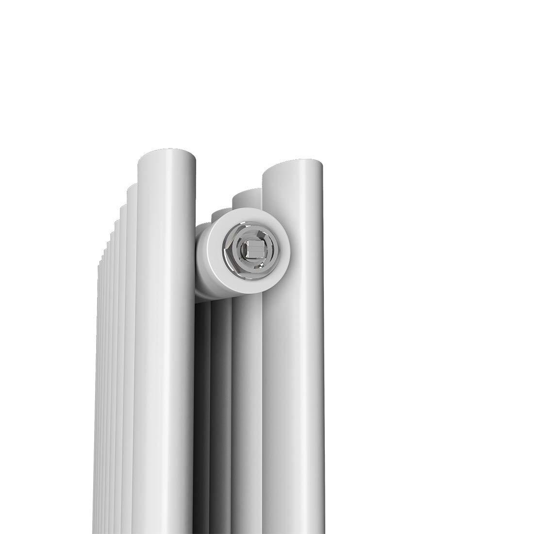 Design Heizk/örper Anthrazit Oval Paneelheizk/örper 600 x 1000 mm Heizung Seitenanschluss Doppellagig/Wohnzimmer//Badezimmer Heizk/örper Horizontal