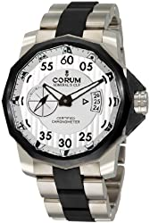 Corum Men's 94795194/V791AK Admirals Cup Black Competition 48 Silver Dial Watch