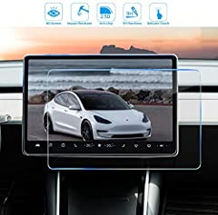 Tempered Glass Screen Protector Center Control Touchscreen Car Navigation Touch Screen Protector Compatible for Tesla Model 3,Model Y : -Touch sensitive,use the thin and light crafting to reach perfect touch sensitivity. -Scratch resistant, ...