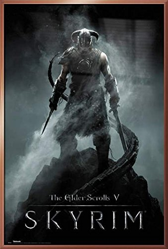 The Elder Scrolls V: Skyrim - Framed Gaming Poster / Print Dragonborn By Stop