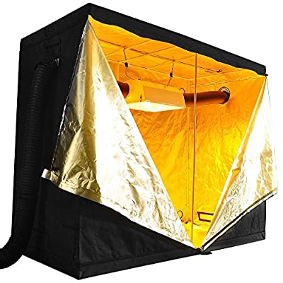 "SPL Horticulture 96""x48""x80"" Mylar Hydroponic Grow Tent for Indoor Plant Growing"