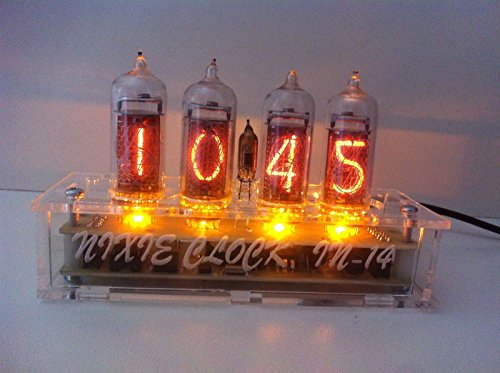 Nixie Vacuum Tube Clock Calendar IN-14 - Vintage - Steampunk - Dieselpunk - Soviet Made During the Cold War Era - - Era Steampunk