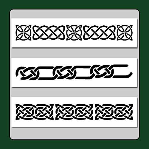 - Set of 3 Celtic Knot Border Stencils Templates 3 X 12 Each Wiccan/Medieval/Irish/Decor