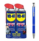 WD-40 12oz. Aerosol Can with Smart Straw - 2 Cans and a Plexon Metal Roller Pen