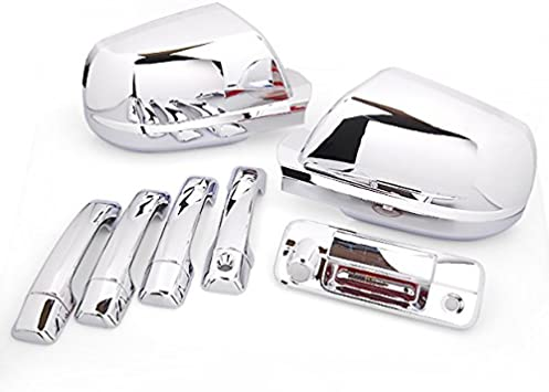 For Nissan Rogue 2008 09 10 11 12 2013 Chrome Full Mirror 4 Door Handle Covers s