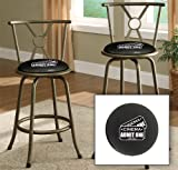 New Bronze Finish 24'' or 29'' Seat Height Bar Stool featuring Admit One Movie Tickets Themed Logo and your choice of seat cushion viny color!