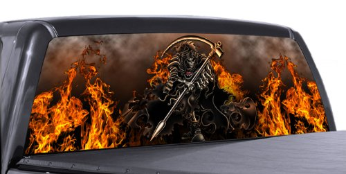 Compare Price Grim Reaper Rear Window Graphics On