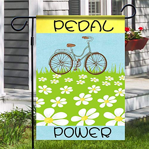 Ranche Custom Polyester Garden Flag,Without Flagpole,Pedal Power
