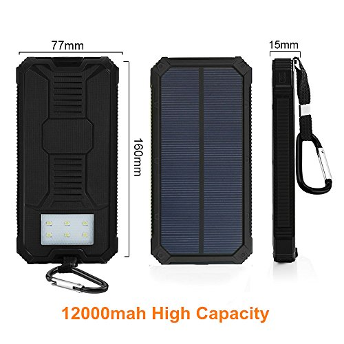 Led Lighting For Camera Phones Tablet Full Hd Do 500 Zl Smonet Wireless Hd Camera Cctv Security Kit Hd Tv Shows Stream: Solar Charger, External Battery Pack, Portable 12000mAh