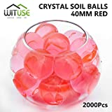 2000PCS WATER BALL GROWING CRYSTAL SOIL RED AQUA BEADS 6.8MM HYDROGEL CRAFT