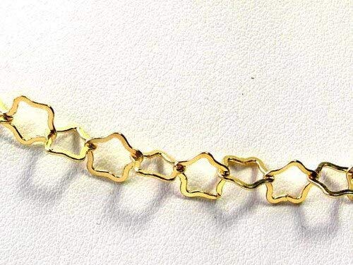 Twinkle 22K Vermeil 8mm Star Chain 6 inches for Jewelry Making 9412 ()