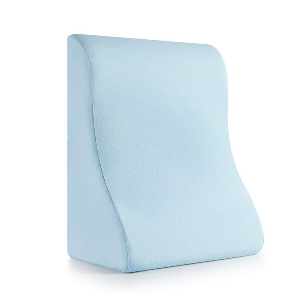 LIQICAI Memory Foam Bed Wedge Pillow with Headrest Pillow for Reducing Back Pain Reading Pillow Medical Quality, 2 Sizes (Color : Blue, Size : 61x48x26cm) by LIQICAI-Bed Support