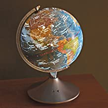 Bits and Pieces - Illuminated Globe with Constellation Map - Earth with Constellations Superimposed - Great Gift for a Young Astronomer - 2 in 1 World Globe and Constellations