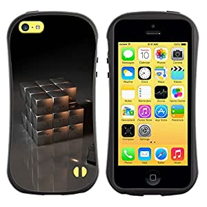 "Hypernova Slim Fit Dual Barniz Protector Caso Case Funda Para Apple iPhone 5C [Cubo del metal""]"